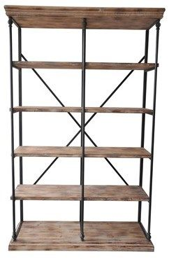 La Salle Metal And Wood Bookshelf At Michael Alan Furniture