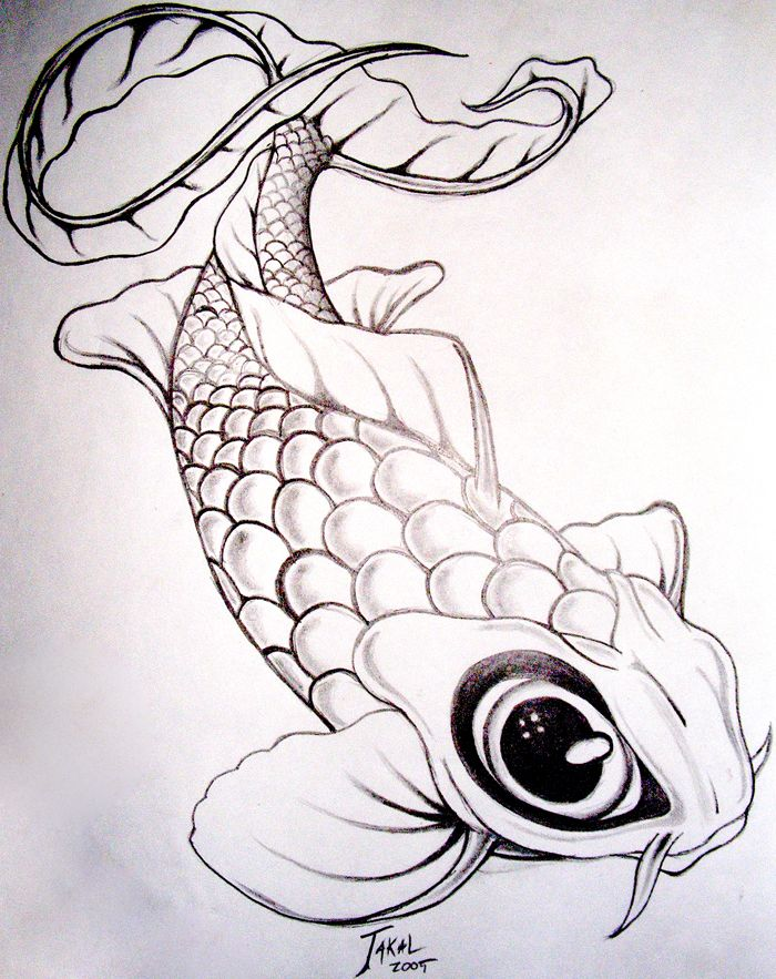 Koi fish drawing google search disc golf designs for Japanese koi fish drawing