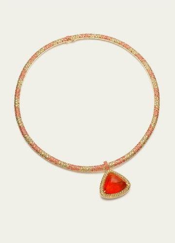 Necklaces @ Tamsen Z fire opal yellow diamonds & orange sapphires…
