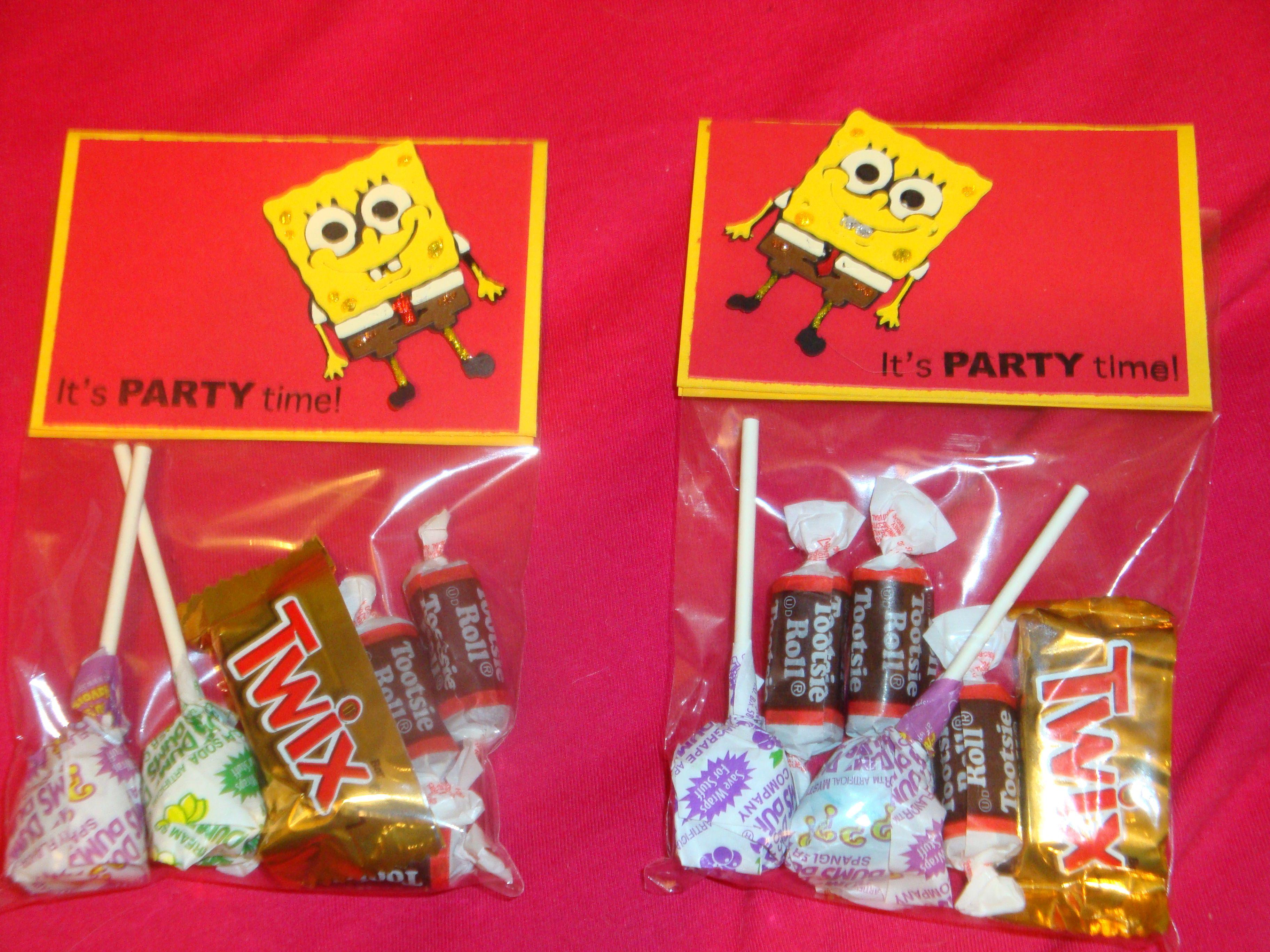 Spongebob Party Favors   Spongebob Party Ideas   Pinterest ...