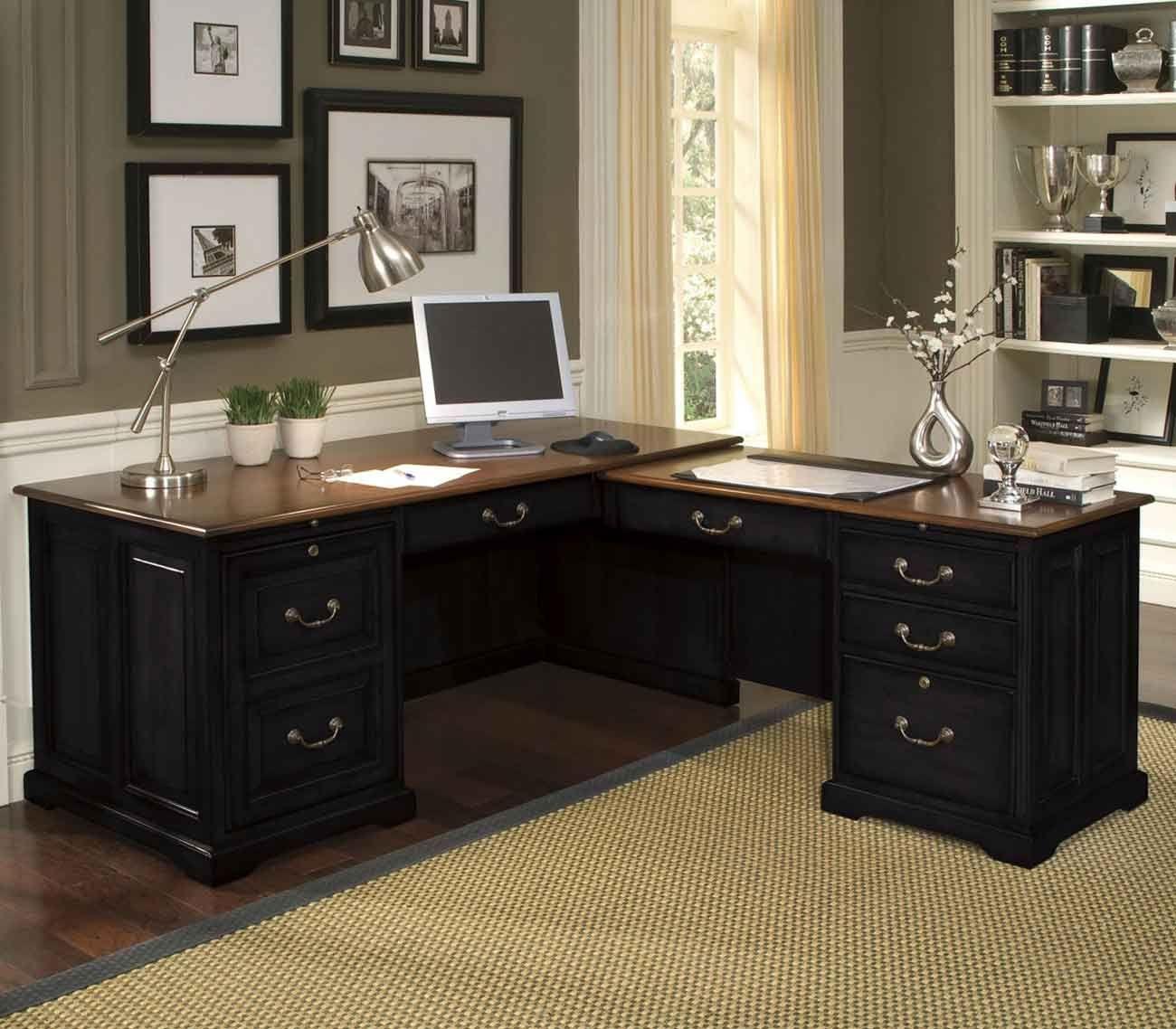 Incroyable Home Office Desk Dark Wood