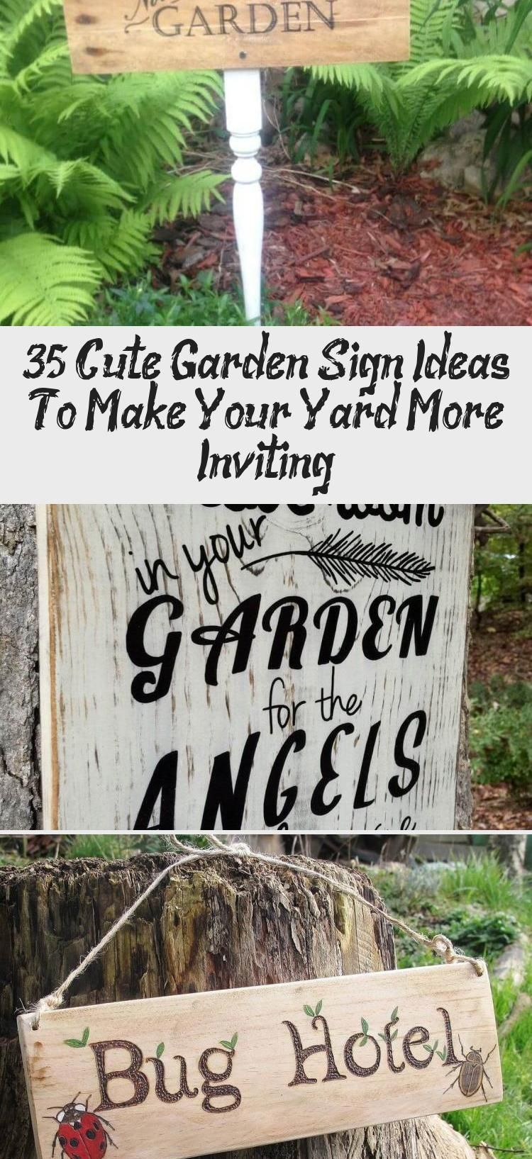 35 cute garden sign ideas to make your yard more inviting