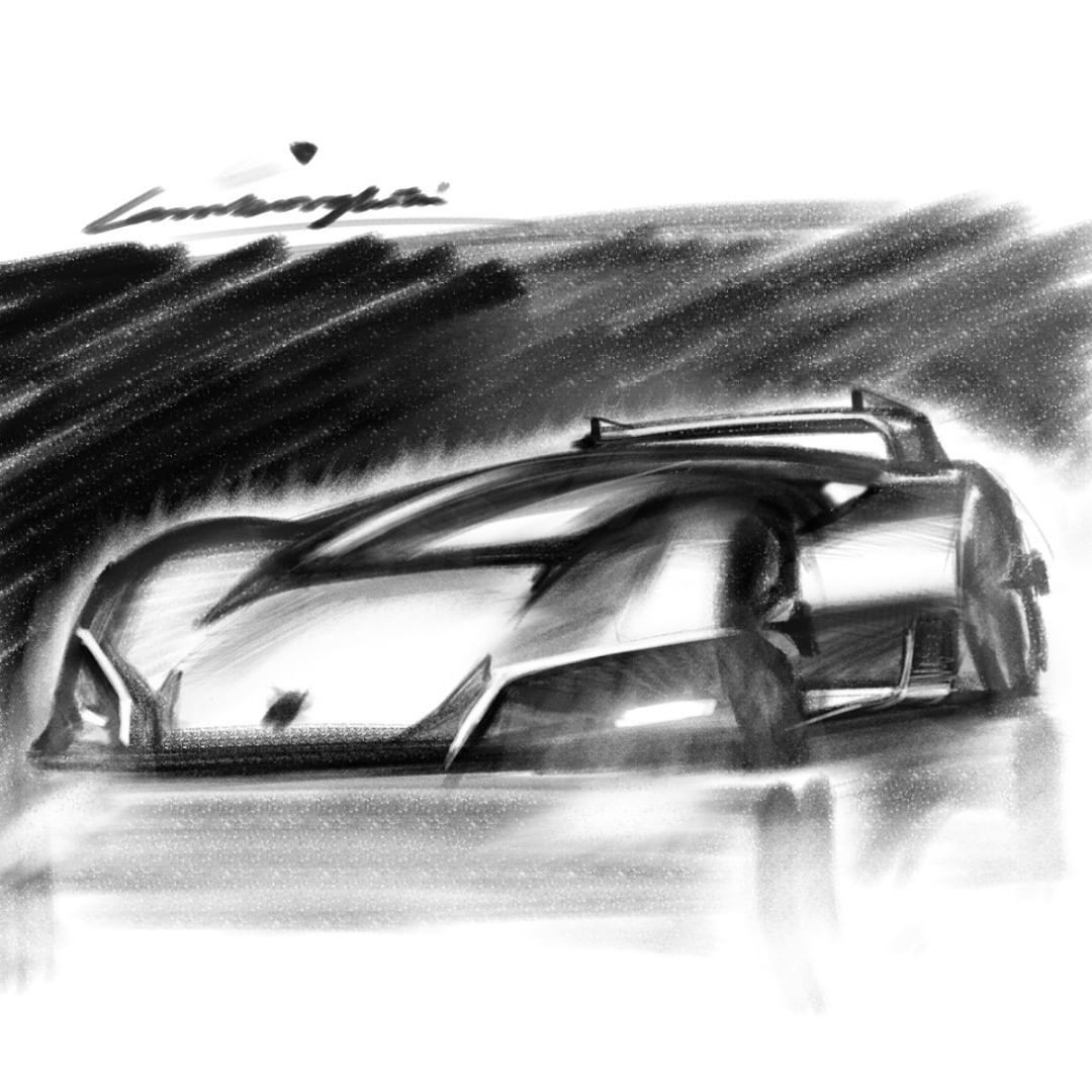 "Q Void on Instagram: ""Lambo ShitDoodle x(( @lamborghini  #automotivedesign #design #sketchaday #transport #cardesign #designstudy #carsketch #concept #sketch…"""