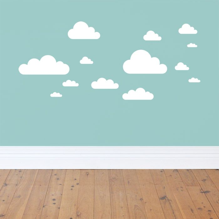 white fluffy clouds, | Molly\'s Room | Pinterest | Wall decal ...