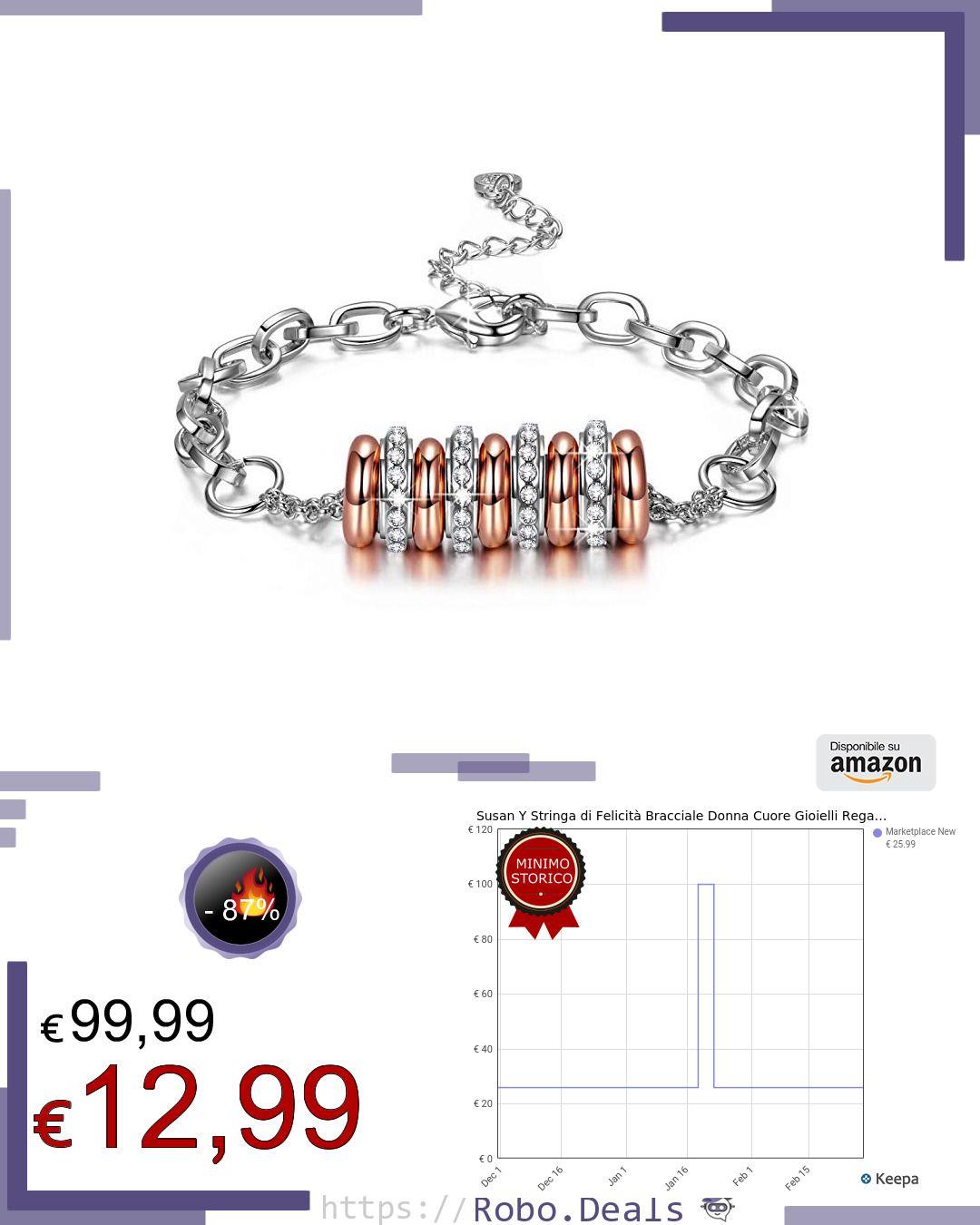 immagini dettagliate 4ae4f eddbc Pin di Robo Deals su Offerte Amazon Italia | Bracciali, Gioielli e ...