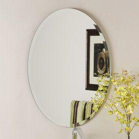 Photo Album Website Decor Wonderland in W x in H Oval Frameless Bathroom Mirror with Hardware and Beveled Edges Master bath Pinterest Bathroom mirrors Hardware and