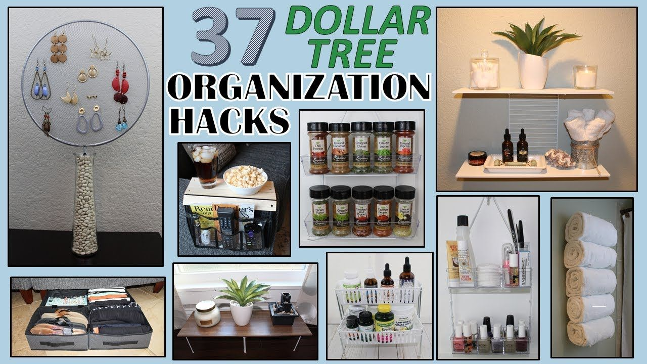 37 Dollar Store Organization Ideas Dollar Tree Diy Organization Hacks In 2020 Dollar Tree Diy Organization Dollar Store Organizing Dollar Store Diy Organization