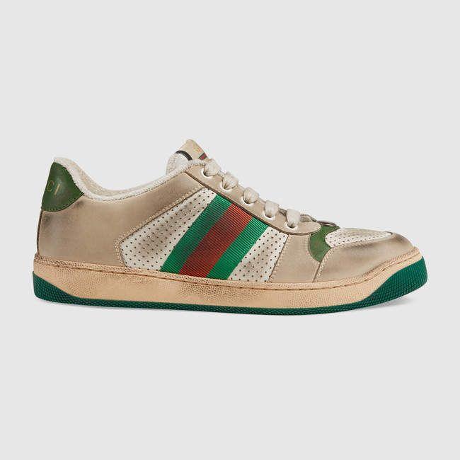 Gucci Women's Screener Ledersneaker  – Products