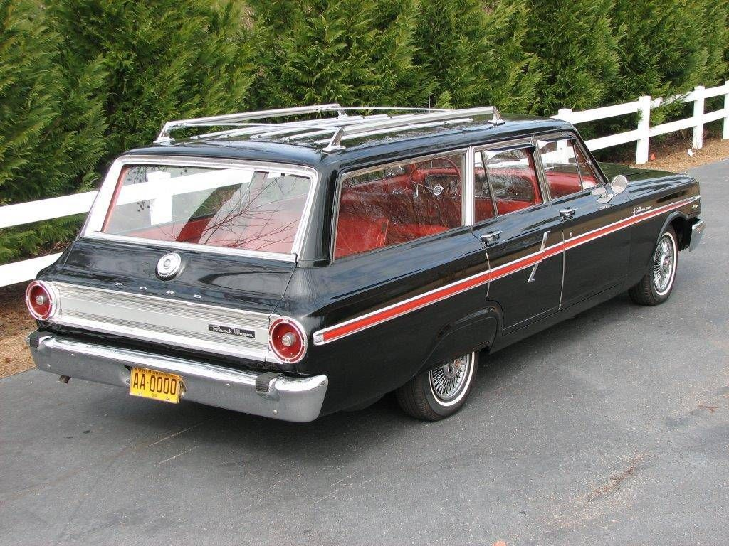 1964 Ford Fairlane 500 Custom 8 Passenger Ranch Wagon For Sale