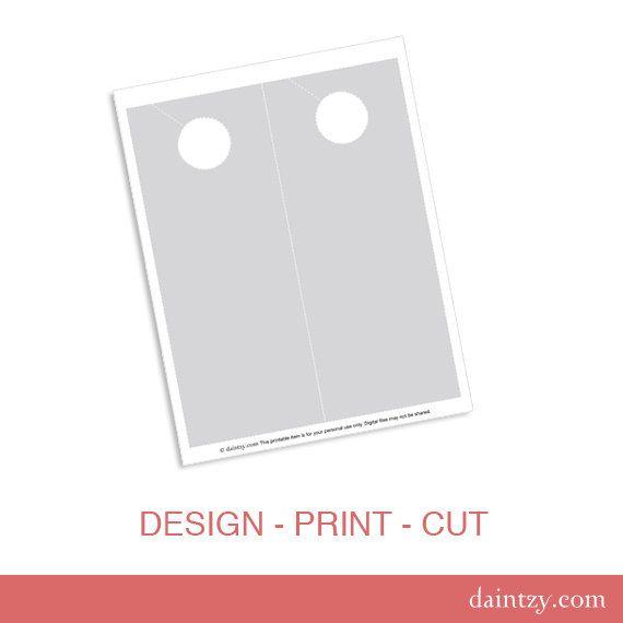 Instant Download Door Hanger Printable Template - DIY Make Your - door hanger design template