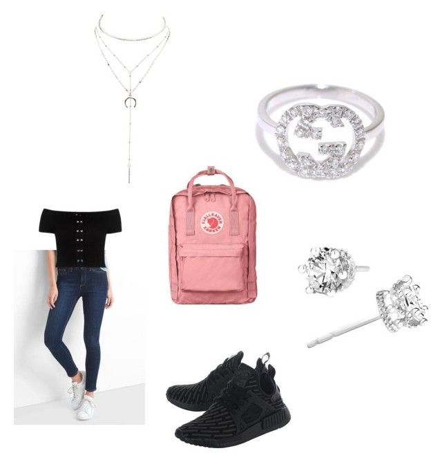 """Untitled #1342"" by tal-haliva on Polyvore featuring Gap, Fjällräven, adidas Originals, Charlotte Russe and Gucci"