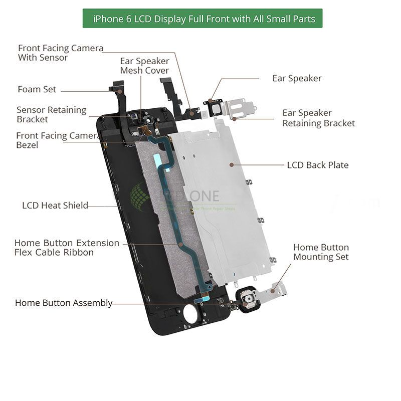 c960d895daf378 iphone 6 lcd display full front with all small parts New Iphone 6, Apple  Iphone