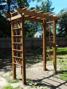 DIY Arbor by Meg Padgett - Free plans for a gorgeous arbor. This would be beautiful for our wedding!