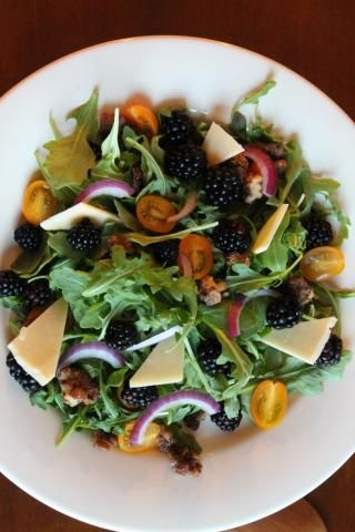 3 Cups Arugula Greens  C2 Be Cup Fresh Blackberries 2 Oz Dubliner Cheese Or Hard Hard