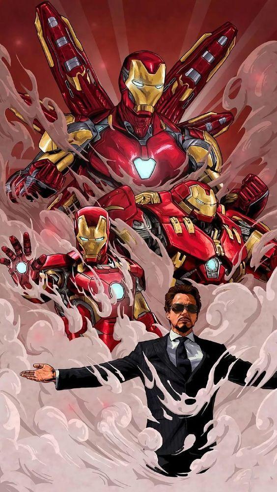 Para El Cielin Fondo De Pantalla De Iron Man Dibujos Marvel Magnificos