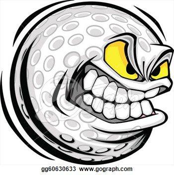 429c72aef Golf Cartoon Characters Clip Art - Royalty Free - GoGraph | Golf ...