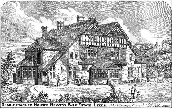 1886 Semi Detatched Houses Newton Park Estate Leeds Yorkshire
