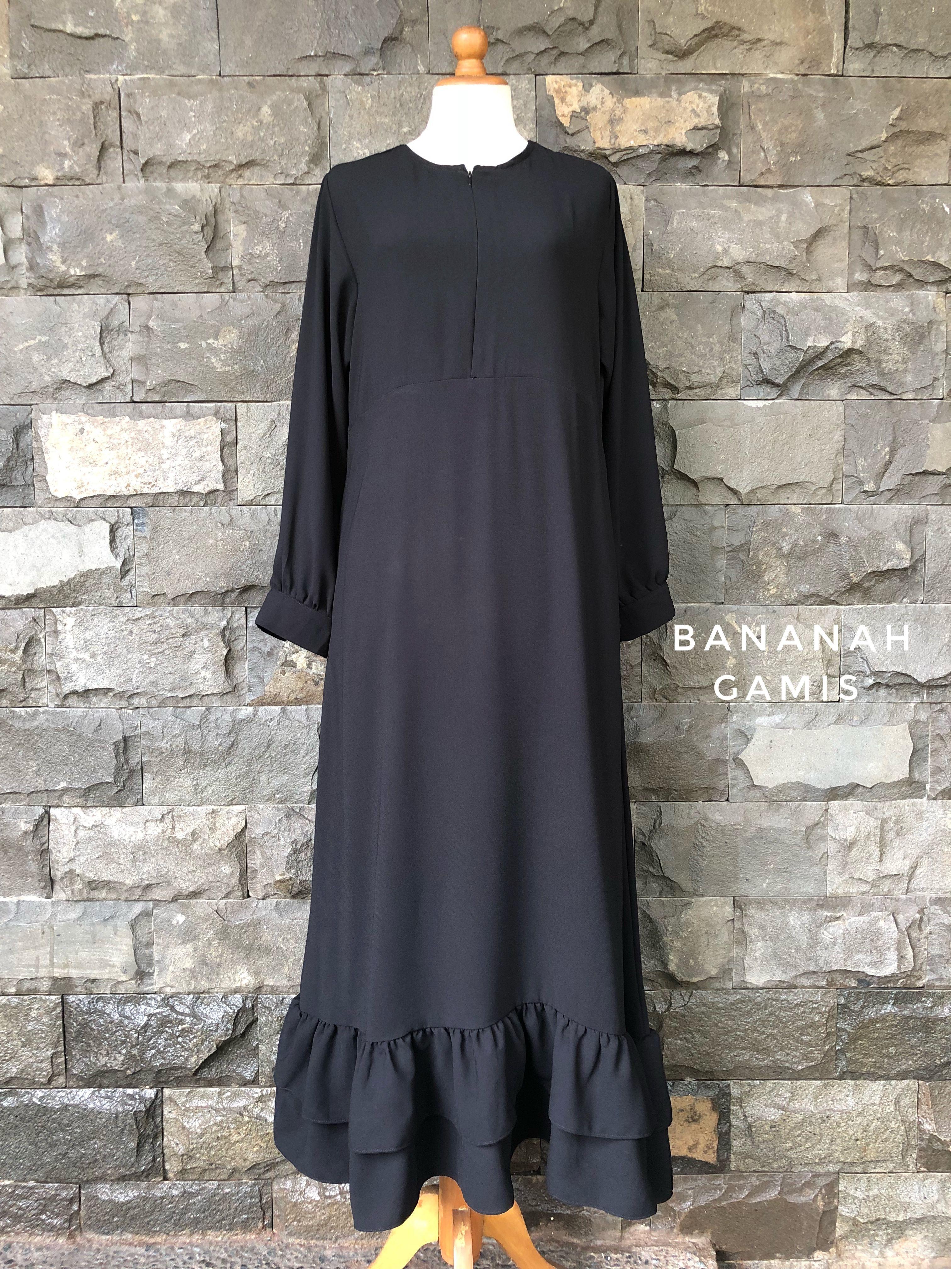 bananah gamis  Model pakaian hijab, Model pakaian, Model baju wanita