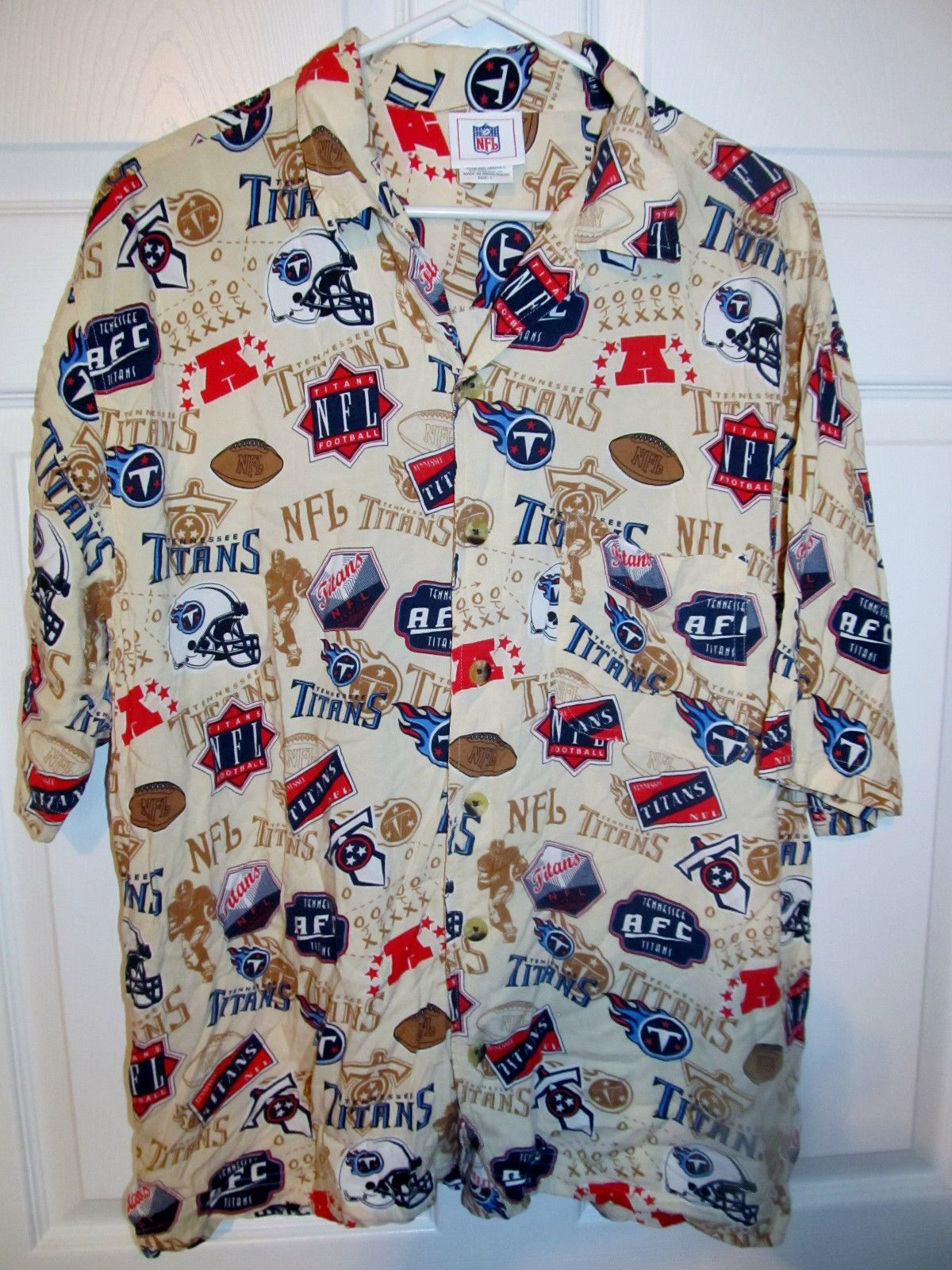 7fbfebef Vintage Tennessee Titans NFL Hawaiian Shirt , LARGE - Football-NFL ...