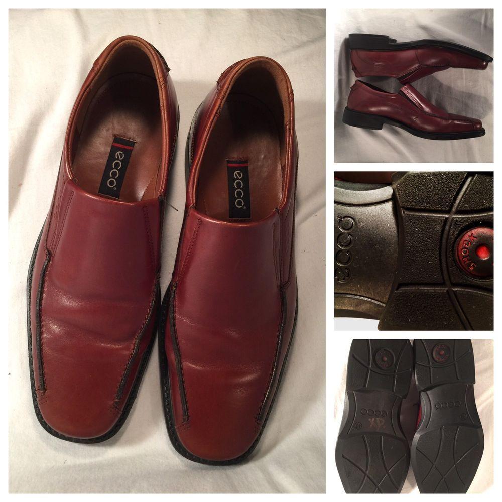 1d79020c099 ECCO Shock Point Brown Leather Slip On Loafer Men s Sz 8-8.5 US 42 ...
