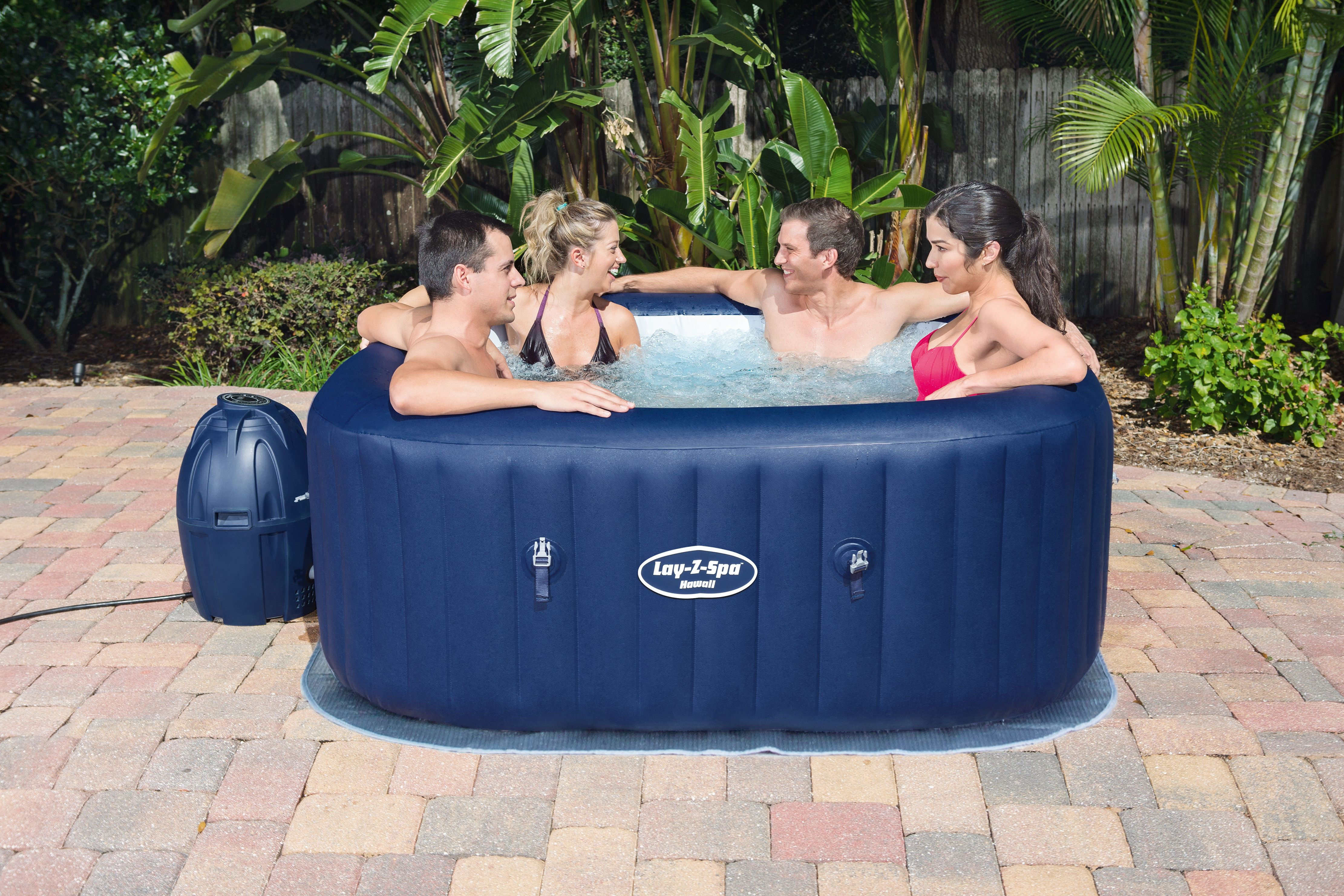 Hawaii 6 Person Inflatable Cols Spa Hot Tub Square Family Spa Tubs