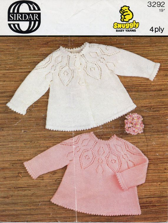 Baby Knitting Pattern Baby Matinee Coat Baby Angel Top by Minihobo