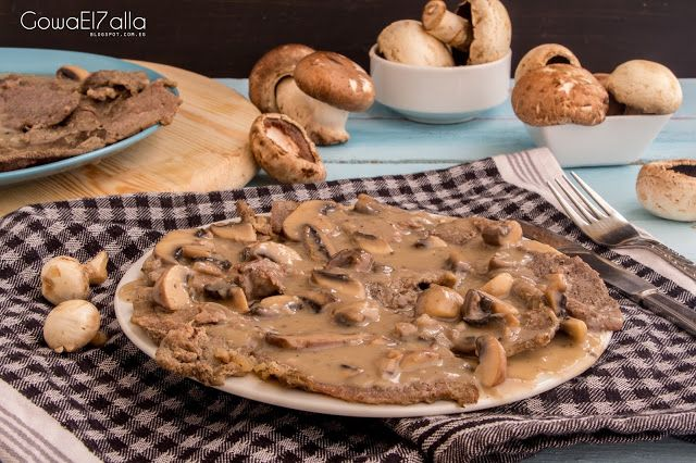 Beef Piccata With Mushrooms Food Cooking Recipes Cooking