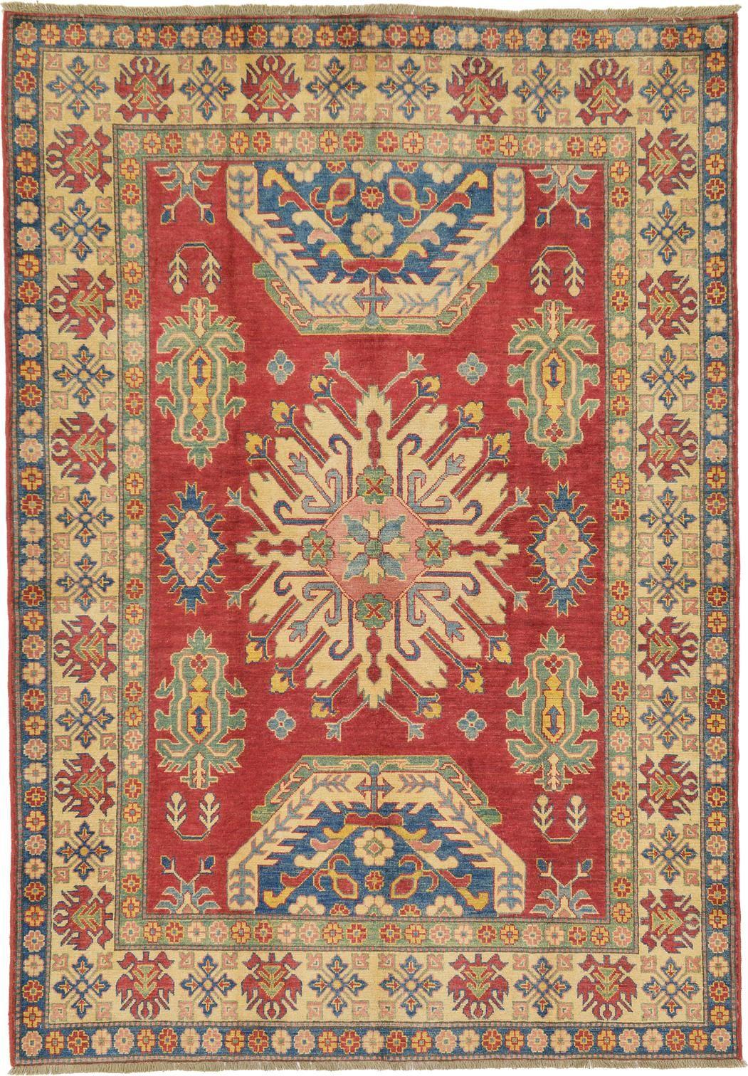 Red 6 1 X 8 9 Geometric Kazak Oriental Rug Rugs