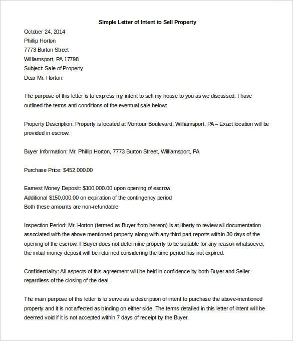 Escrow Cancellation Letter Sample