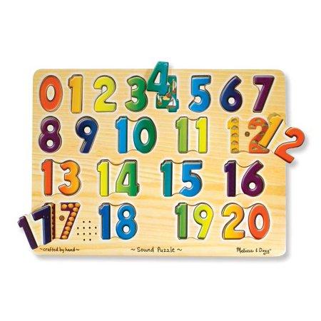 Melissa Doug Numbers Sound Puzzle Wooden Puzzle With Sound Effects 21 Pcs Walmart Com Sound Puzzle Puzzle Set Educational Puzzles