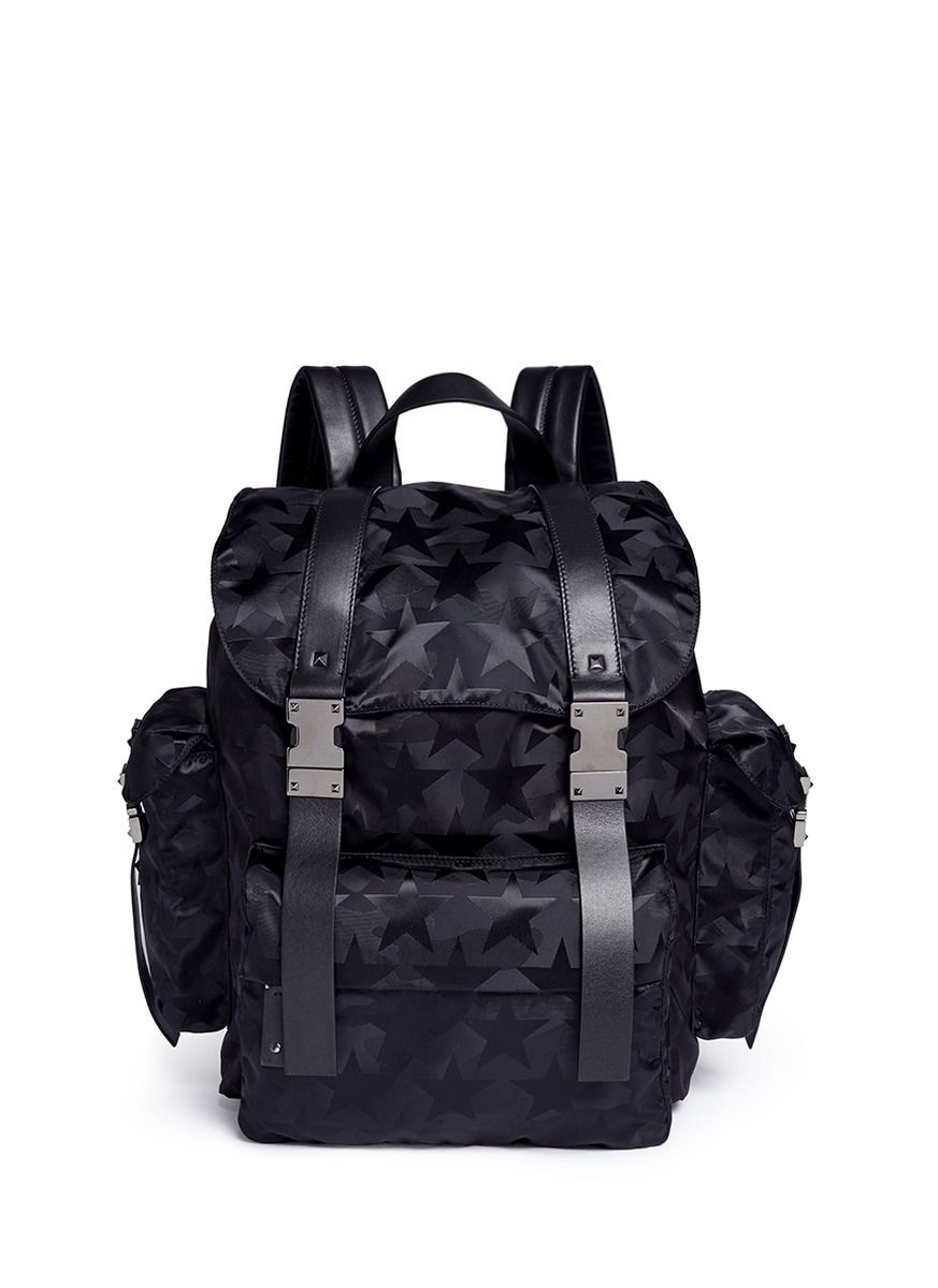 be950b60b2 VALENTINO 'Camustars' Jacquard Backpack. #valentino #bags #leather #lining # backpacks #lace #