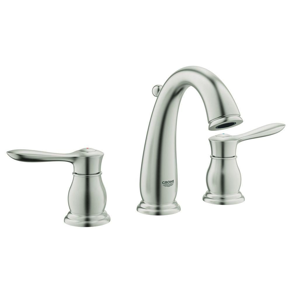 GROHE Parkfield 8 in. Widespread 2-Handle Bathroom Faucet in Brushed ...