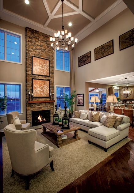 new luxury homes for sale in monroe township nj monroe chase high ceiling living room dark wood floors living room open living room pinterest