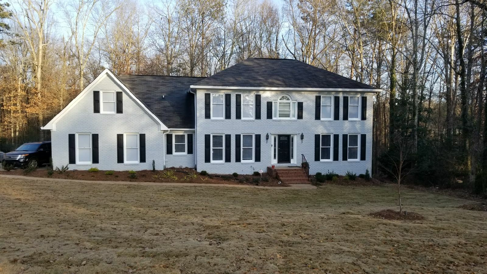 Painted Gray Brick Exterior Color Is Sherwin Williams Screen Sw 7071