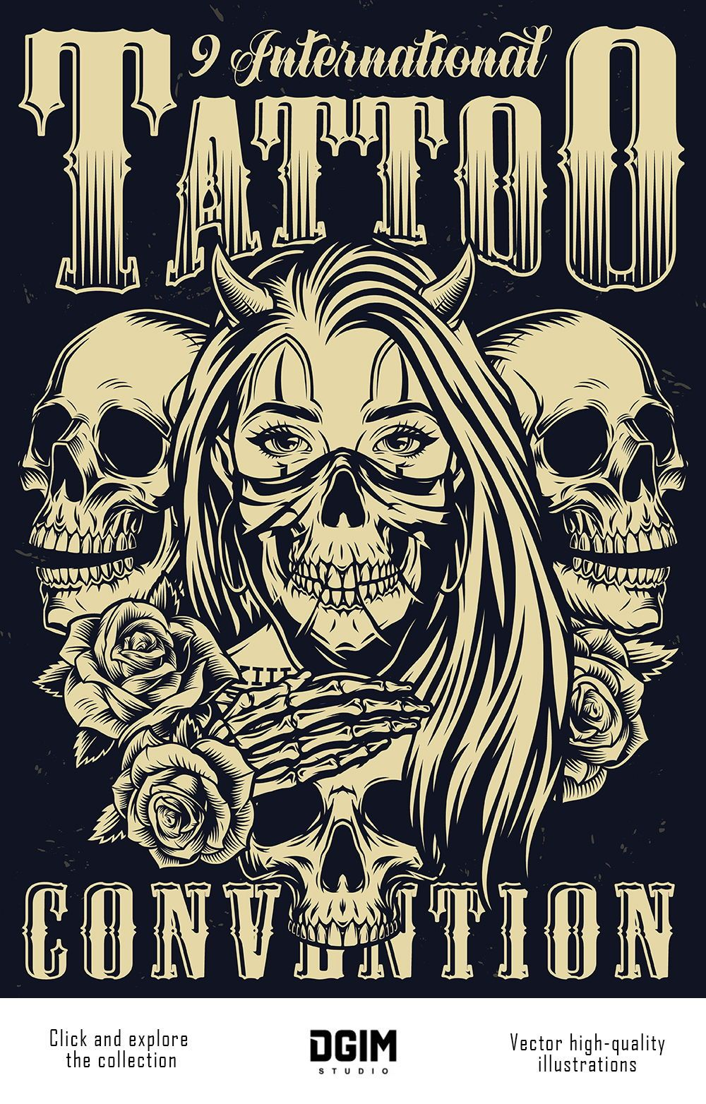 Retro Tattoo Designs Set In 2020 Vintage Posters Retro Tattoos Graveyard Tattoo