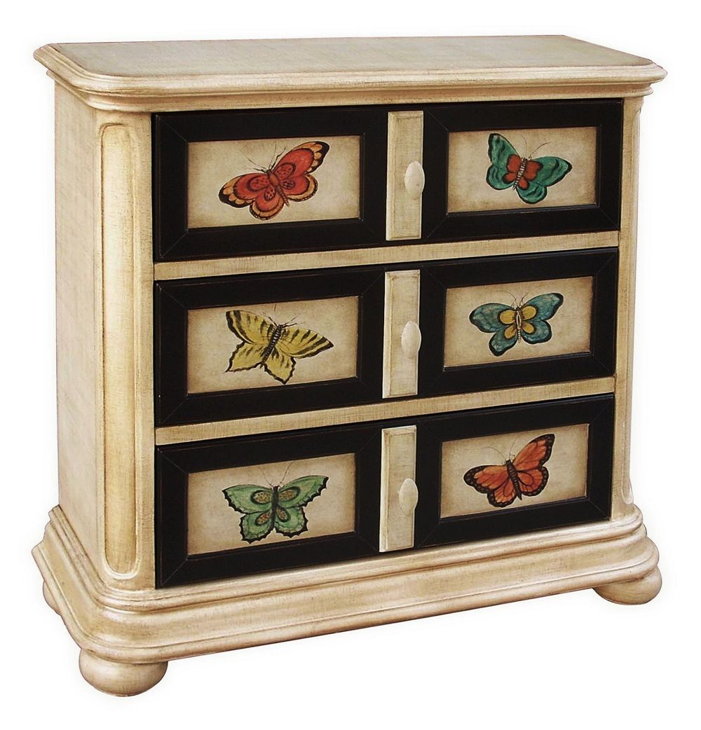 Hand Painted Butterfly Chest How Cute Hall Chest Furniture Painted Furniture Cabinets