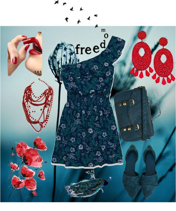 """summer dress2"" by olgamaslova ❤ liked on Polyvore"