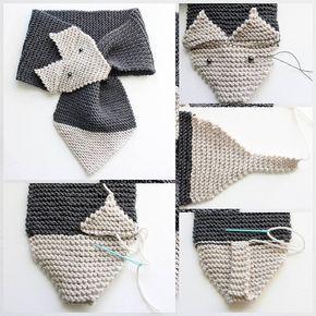 Схема вязания шарфа лисы спицами 961