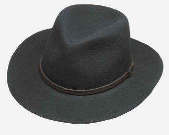 f8da60e66f85e Broner Lite Felt Autumn Outback Hat, Black, Medium Broner. $68.00 ...