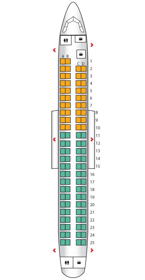 Embraer 190 Airline Seats Singapore Airlines