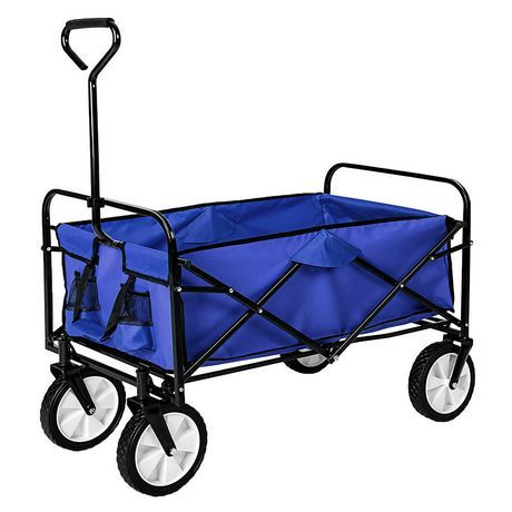 Garden Creations Collapsible Wagon Wagon Hand Cart Wheelbarrow