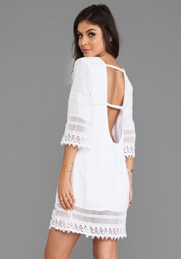 TIARE HAWAII Flores Mini Dress in White - Tiare Hawaii http://effortlesseverydaystyle.blogspot.com/