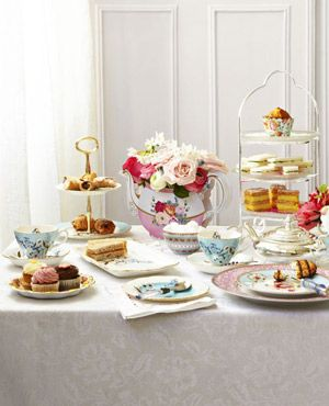 High tea setting with assorted cakes & Ostara Tea Party Menu | afternoon tea | Pinterest | Afternoon tea ...