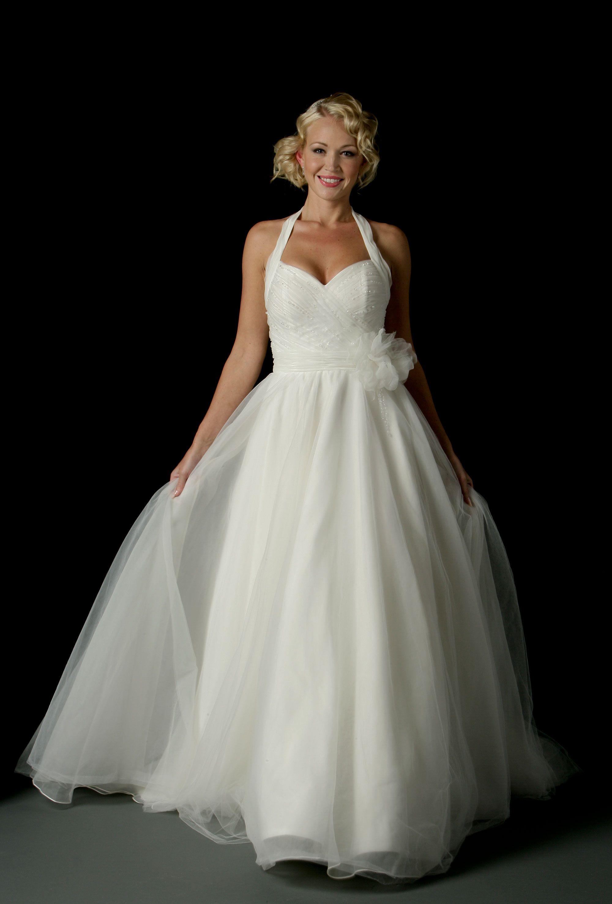 50s style wedding dress uk Halter top wedding dress
