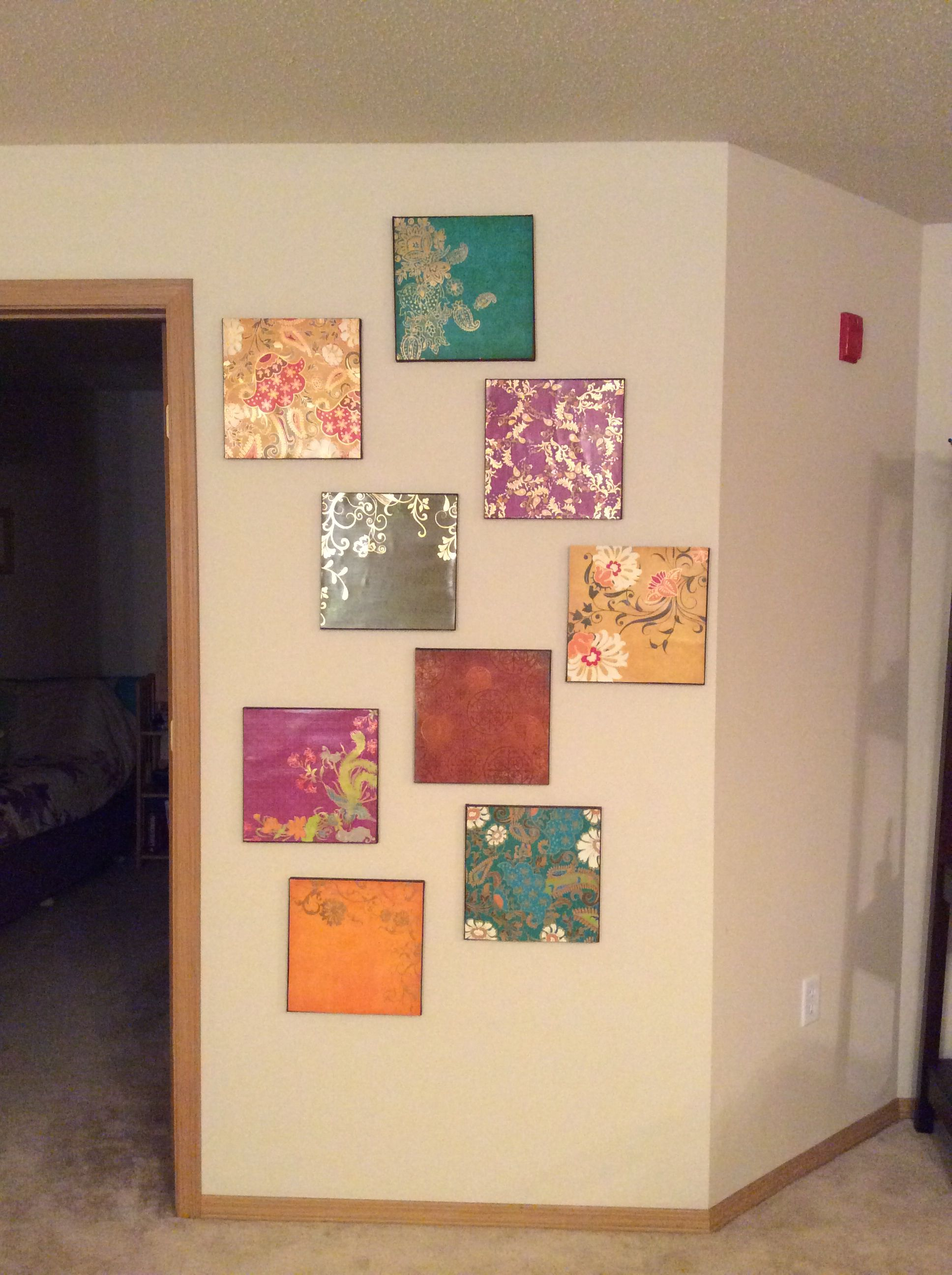 Craft Paper Turned Into Wall Art Crafty Craft Crafts Paper Crafts