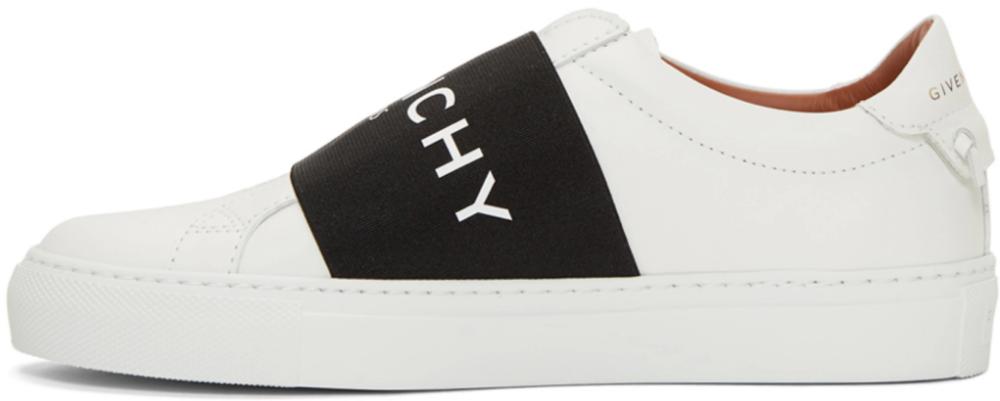 White Strap Urban Knots Sneakers