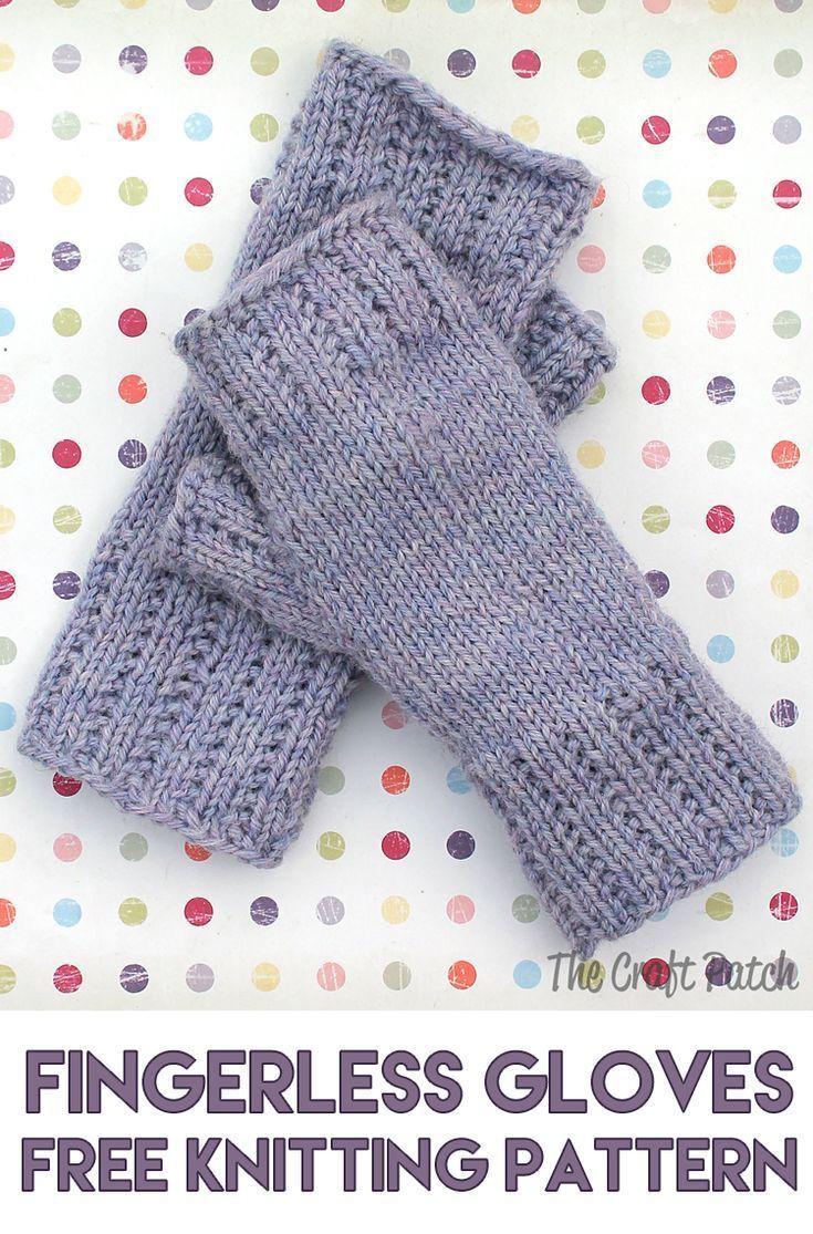 Apprendre à tricoter: modèle gratuit de mitaines sans doigts Happy Hands – thecraftpatchblog.com   – DIY Best Bloggers {Home, Family, Garden}