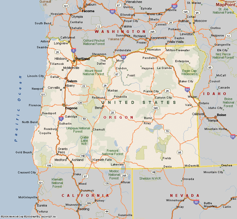 picture relating to Printable Map of Oregon identified as map of oregon metropolitan areas and cities Maps of Oregon Towns