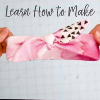 Easy DIY baby headband pattern free sewing - Knot Bow Headband Pattern and Tutorial