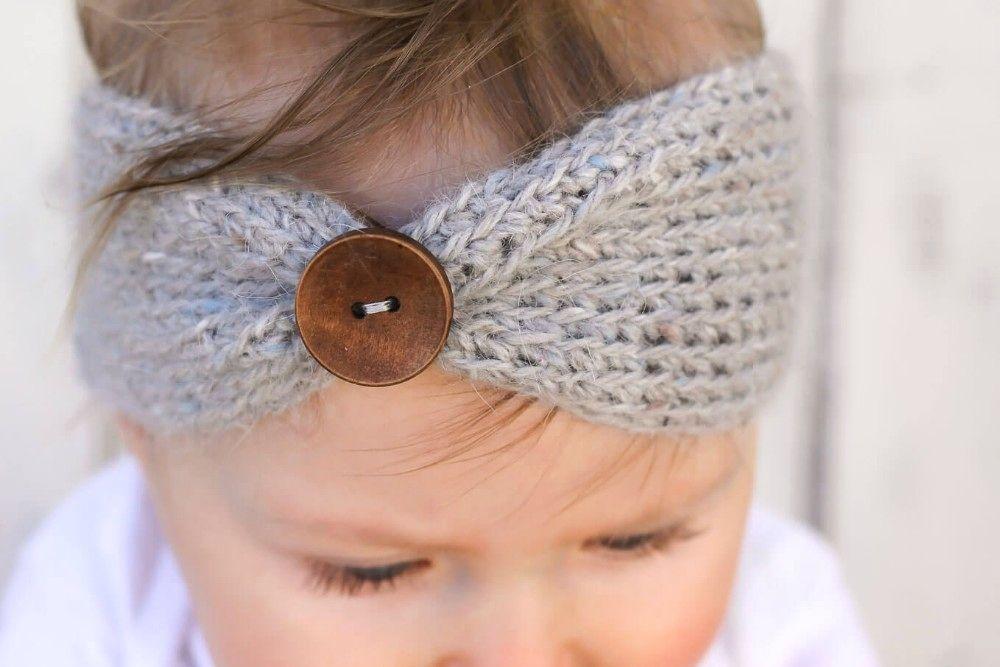 Baby Girl Knit Crochet Turban Headband | Baby Hats and ...